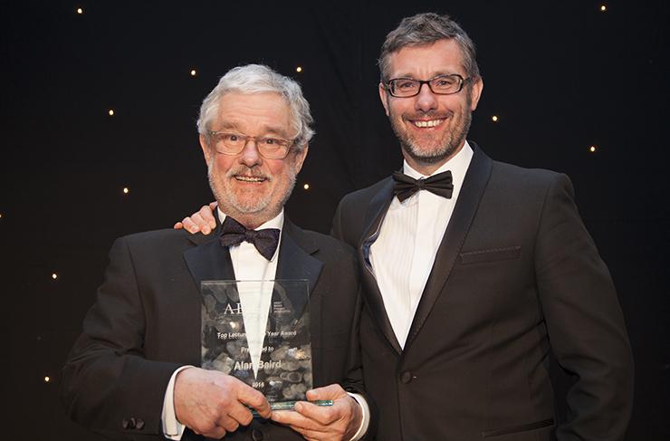 Alan with his award